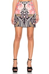 Minkpink Paisley Picture Mini Skirt Coral