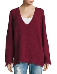 Free People Irresistible V Neck Sweater Red