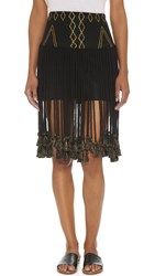 Gypset Kenza Skirt Black Gold