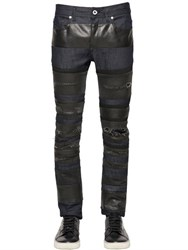 Diesel Black Gold 17Cm Striped Stretch Cotton Denim Jeans