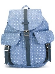 Herschel Supply Co. Polka Dot Buckle Backpack Blue
