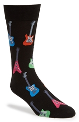 Hot Sox 'Guitars' Socks Black