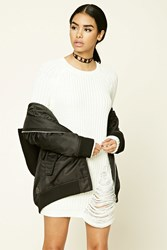 Forever 21 Distressed Purl Knit Sweater
