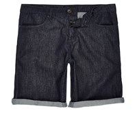 River Island Mens Dark Rinse Slim Fit Denim Shorts