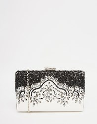Liquorish Embellished Clutch Bag White