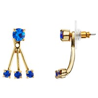 Kate Spade New York 12Ct Gold Plated Glass Stone Delicate Drop Earrings Sapphire Blue