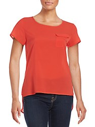 French Connection Plains Riot Solid Top Riot Red