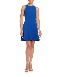 Michael Michael Kors Sleeveless Zip Placket Dress Royal Blue