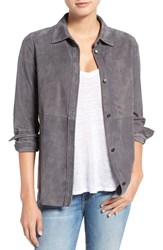 Current Elliott Women's 'The Clean Perfect' Suede Shirt