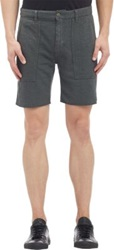 Save Khaki Herringbone Fleece Shorts Green
