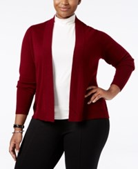 Charter Club Plus Size Cashmere Open Front Cardigan Only At Macy's Crantini