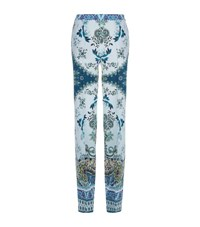 Etro Floral Silk Palazzo Pants Female Green
