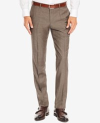 Hugo Boss Men's Slim Fit Super 100 Virgin Wool Dress Pants Lightpastelbrown