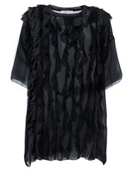 Faith Connexion Oversized Ruffle Blouse Black