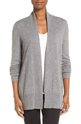 Nordstrom Women's Collection Open Front Cashmere Cardigan Grey Filigree Heather