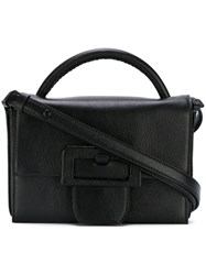Maison Martin Margiela Medium Buckle Detail Satchel Bag Black