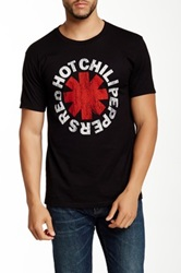 Bravado Red Hot Chili Peppers Vintage Distressed Logo Graphic Tee Black