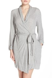 Splendid Thermal Jersey Robe Gray