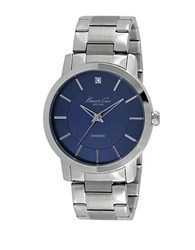 Kenneth Cole Mens Stainless Steel Bracelet Watch With Diamond Embellishment Silver