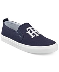Tommy Hilfiger Lucey 2 Slip On Logo Sneakers Women's Shoes Marine Blue