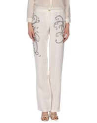 Class Roberto Cavalli Trousers Casual Trousers Women Ivory