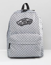 Vans Realm Backpack In Polka Dot Print Multicolour