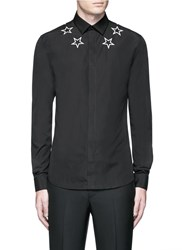 Givenchy Star Embroidery Cotton Shirt Black