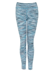 Green Lamb Feather Tech Space Dye Leggings Multi Coloured