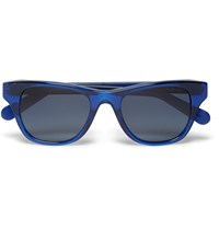 Cutler And Gross D Frame Acetate Polarised Sunglasses Blue