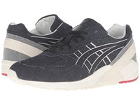 Onitsuka Tiger By Asics Gel Sight Navy Black Athletic Shoes Blue