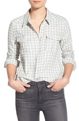Women's Paige 'Mya' Plaid Shirt Cream Blue Pearl Grey