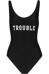 Adriana Degreas Trouble Printed Swimsuit Black