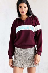 Adidas Originals New York 1986 Hoodie Sweatshirt Maroon