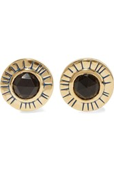 Elizabeth And James Erro Gold Tone Stone Earrings Metallic