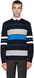 Givenchy Navy Striped Sweater