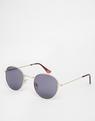 Asos Metal Round Sunglasses Gold