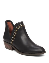 Lucky Brand Kendy Leather Ankle Booties Black