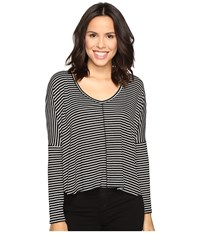 Project Social T Marley Stripe Black White Women's Clothing