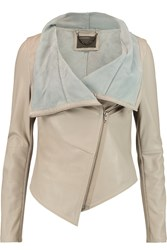 Muubaa Sabina Draped Leather Jacket Nude