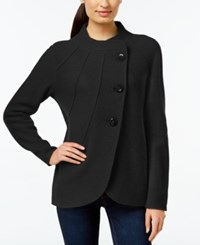 Jm Collection Curved Hem Wool Sweater Coat Only At Macy's Deep Black