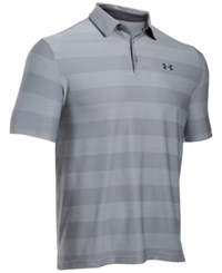 Under Armour Men's Playoff Performance Striped Golf Polo Steel