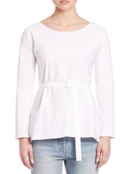 The Row Isa Belted Peplum Back Tee White