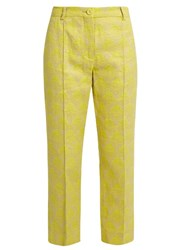 Sies Marjan Mid Rise Straight Leg Mountain Jacquard Trousers Light Yellow