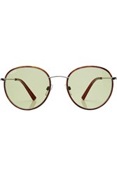 Tod's Tods Round Sunglasses Brown