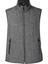 Corneliani Reversible Zipped Vest Grey