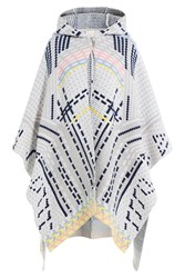 Peter Pilotto Wool Blend Cape With Angora Grey