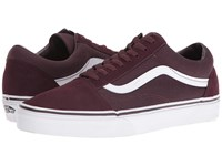 Vans Old Skool Suede Canvas Iron Brown True White Skate Shoes