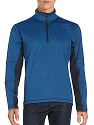 Hawke And Co The Borum Quarter Zip T Shirt Blue