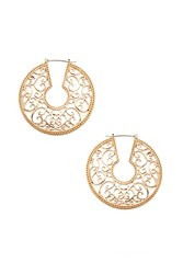 Forever 21 Filigree Hoop Earrings