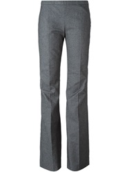 Giamba Side Zip Flared Trousers Grey